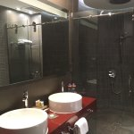 Huge shower cubicle & double sinks