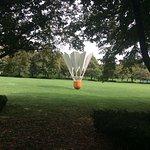 Modern art in the park.