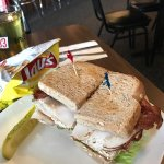 turkey club with bacon