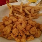 Fried popcorn shrimp