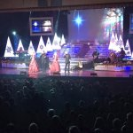 The Brett Family Christmas show. Stage lights were awesome!