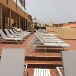 New sun loungers on rooftop sun deck