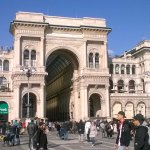 Gallery of Vittorio Emanuele II is the first shopping mall in Milan since 1877