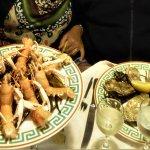 langoustines et huitres