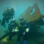 Off shore wreck dive. Praia Victoria, Terceiera Island, Azores.