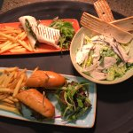 Chicken salad & chicken wrap