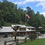 The grill and store of Deals Gap Motorcycle Resort.