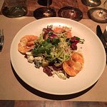 Amazing Steamed shrimp salad (love the silverware too)