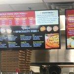 Full Godfather menu, including dessert pizza