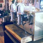 Original hand-pumped Italian espresso machine... beauty!