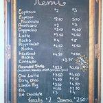 ... our menu