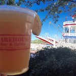 Step out onto River Street with your beer and enjoy the paddlewheeler