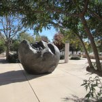 Piece in the museum's sculpture garden