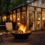 Glass House Fire Pit