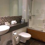 spacious, with all toiletries