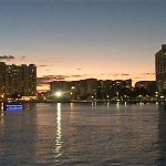 Downtown Tampa at sunset