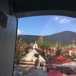 View from my entrance. This amazing rainbow after a light rain.