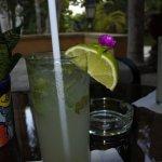 Front veranda bar; this mojito shows attention to detail making Hacienda Chichen uniquely specia