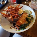 Salmon and fries