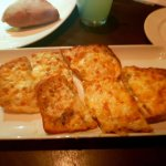 Mouthwatering garlic cheese bread