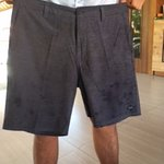 front view of stains on shorts