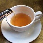 A really good cup of freshly-brewed lemon ginger tea