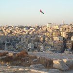 View of Amman with flag pole
