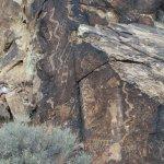 Parowan Gap Petroglyphs Foto