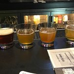 Beer Sampler - they hand you a menu with 10+ and ask you to pick 6 of them.