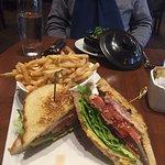 Smoked Tuna Club Sandwich