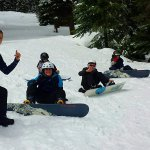 Snowboard lessons in our Kids' Club