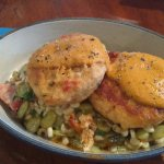 Salmon cakes, always great.  Chef's Whim this day, only $8!