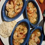 Endless Shrimp Event - All you can eat shrimp scampi w/ mashed potatoes. SO YUMMY!