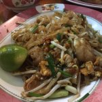 The ever popular pad thai - get the seafood variety.