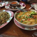 The obligatory tom yum was above average.