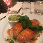 Salmon and creamed spinach to die for!
