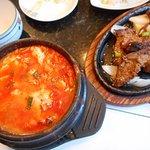 Tofu pot and Galbi