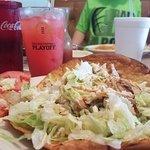 Chicken Taco Salad with El Checo (Their version of Bahama Mama)