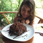 We were not expecting a piece of chocolate cake to be this big!