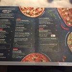 Pizza Express - pizza menu