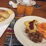 Breakfast--my last meal in Nepal!