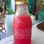 Fresh Juices are made daily for our goddess guests