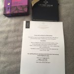 Welcome letter with goodies!!!