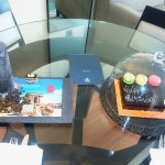 B'day cake and turned down amenities