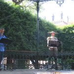 セルバンティス芸術祭の期間中、公園でイベントが行われていました