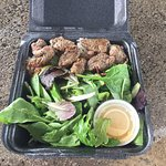 The store is near the beach park.Enjoy the BBQ steak and great salad. Easy to take out and enjoy