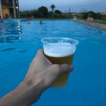 Beer and a swim..
