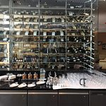 Bar with the wine collection