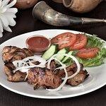 Shashlik made from pork