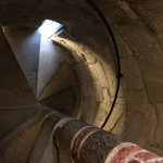 The stairwell of the tower! Very steep and narrow, but worth the effort.